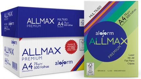 AllMax da Aloform Papéis - A4 Premium CX com 5